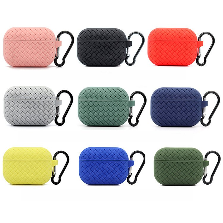 lovingcase bulk buy silicone airpods pro cases with woven pattern-9 colors