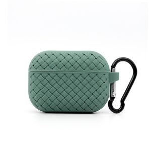 lovingcase bulk buy silicone airpods pro cases with woven pattern-apple green
