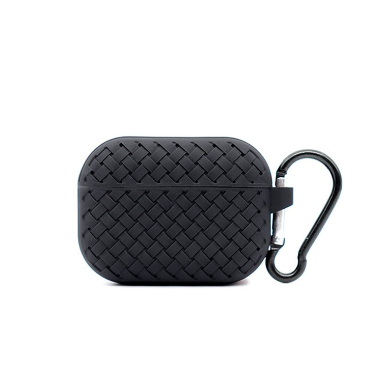 lovingcase bulk buy silicone airpods pro cases with woven pattern-black