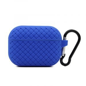 lovingcase bulk buy silicone airpods pro cases with woven pattern-blue