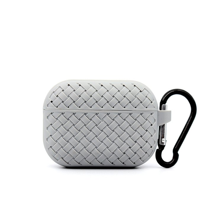 lovingcase bulk buy silicone airpods pro cases with woven pattern-grey
