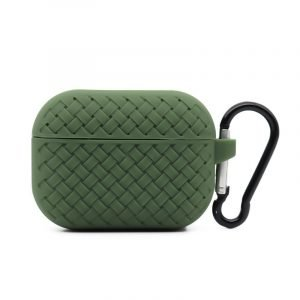 lovingcase bulk buy silicone airpods pro cases with woven pattern-military green