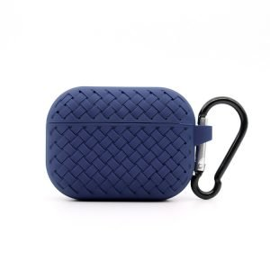 lovingcase bulk buy silicone airpods pro cases with woven pattern-navy