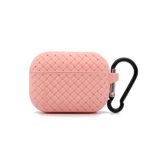lovingcase bulk buy silicone airpods pro cases with woven pattern-pink