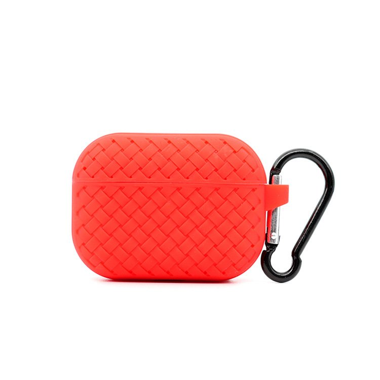 lovingcase bulk buy silicone airpods pro cases with woven pattern-red