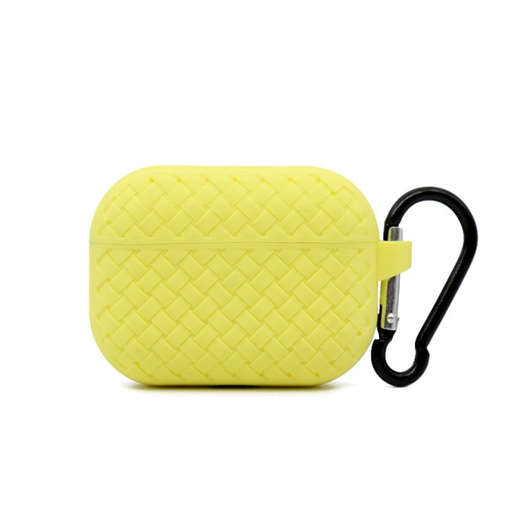 lovingcase bulk buy silicone airpods pro cases with woven pattern-yellow