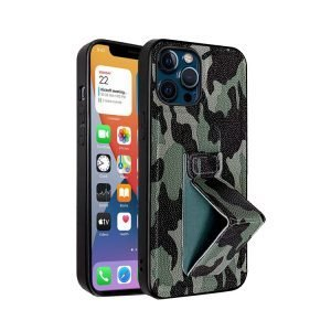 lovingcase wholesale camouflage pattern iphone case with grip stand-green