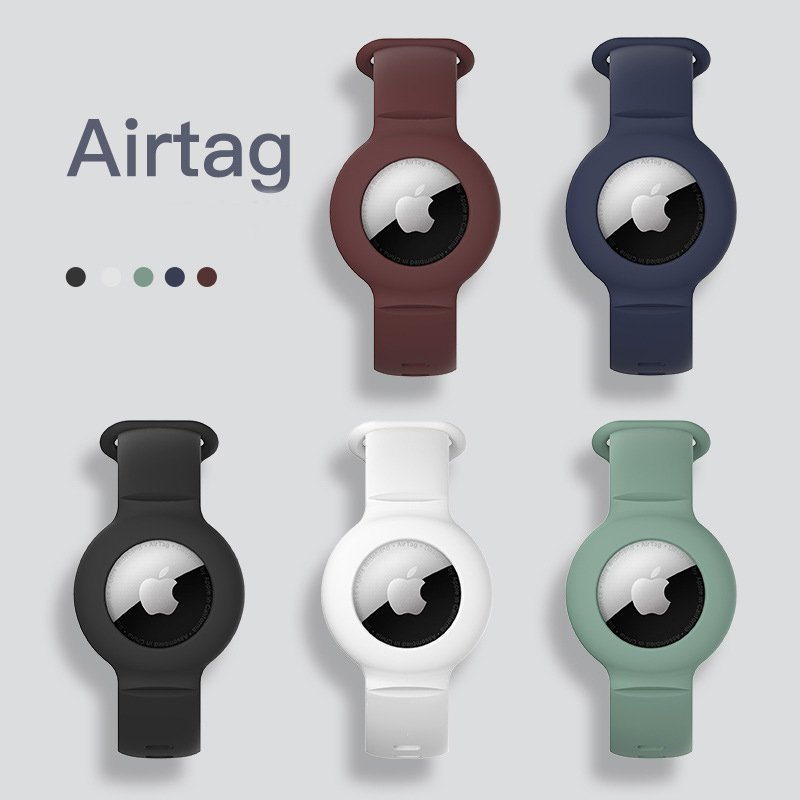 lovingcase wholesale silicone airtag watch band holder - 5 colors