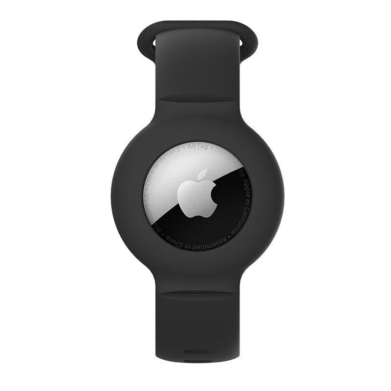 lovingcase wholesale silicone airtag watch band holder - black