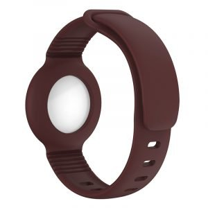 lovingcase wholesale silicone airtag watch band holder - brown 2