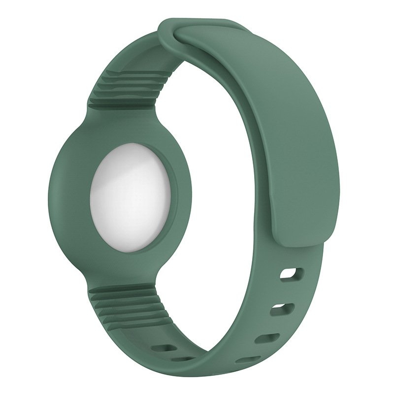 lovingcase wholesale silicone airtag watch band holder - light olive 2