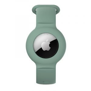 lovingcase wholesale silicone airtag watch band holder - light olive