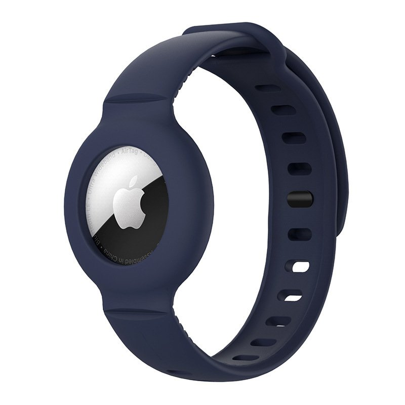 lovingcase wholesale silicone airtag watch band holder - navy 2