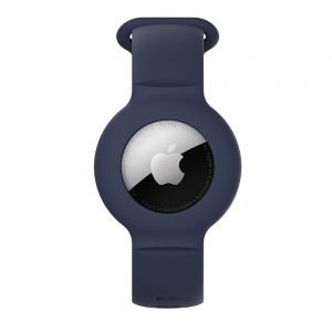 lovingcase wholesale silicone airtag watch band holder - navy