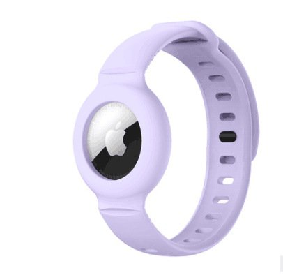 lovingcase wholesale silicone airtag watch band holder - purple