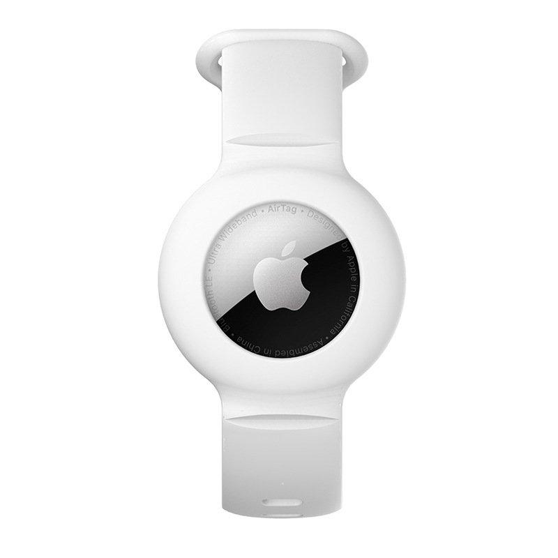 lovingcase wholesale silicone airtag watch band holder - white