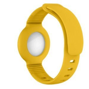 lovingcase wholesale silicone airtag watch band holder - yellow