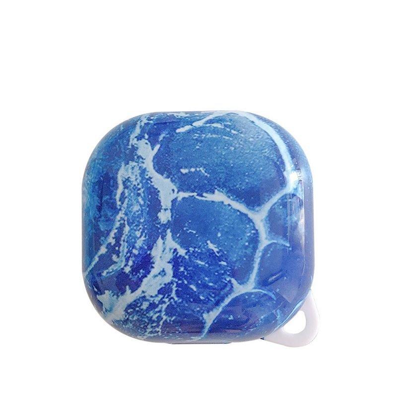 lovingcasse bulk sell marble print samsung galaxy live buds cases - blue