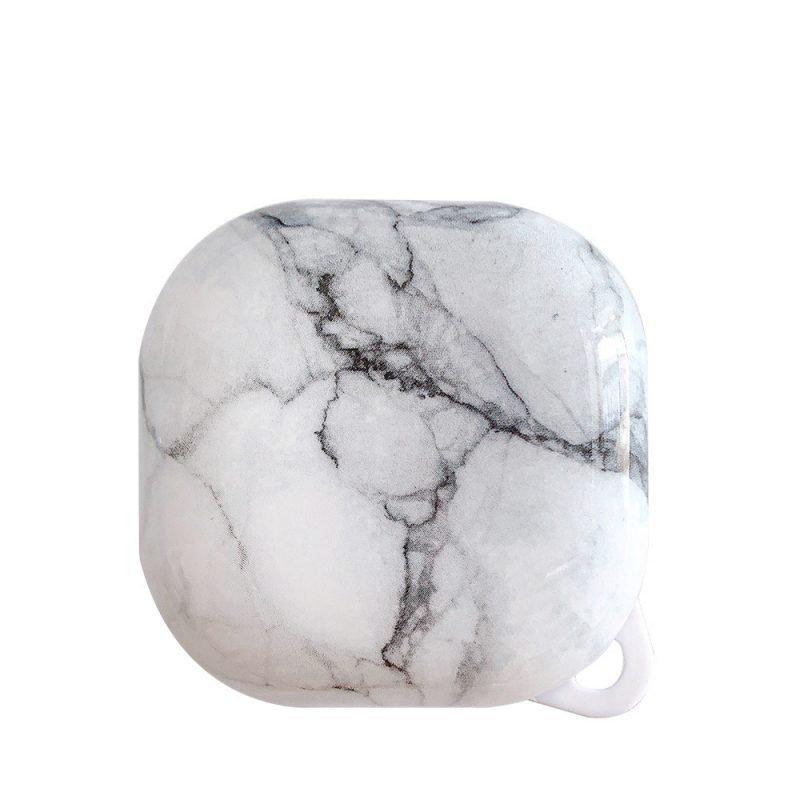 lovingcasse bulk sell marble print samsung galaxy live buds cases - white
