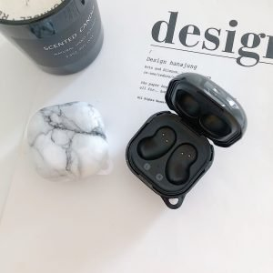 lovingcasse bulk sell marble print samsung galaxy live buds cases - white -black