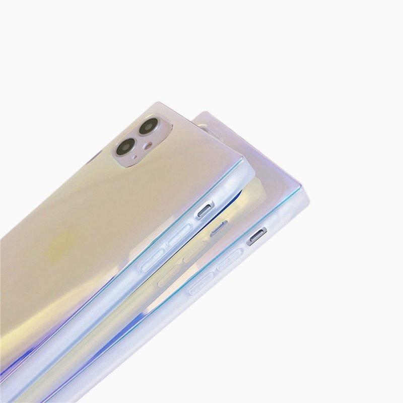 lovingcase-wholesale-square-iphone-case--holographic--purple-for-summer-2