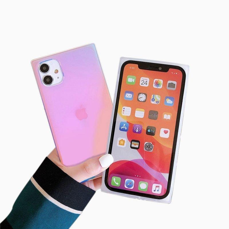 lovingcase-wholesale-square-iphone-case--holographic--purple-for-summer-3