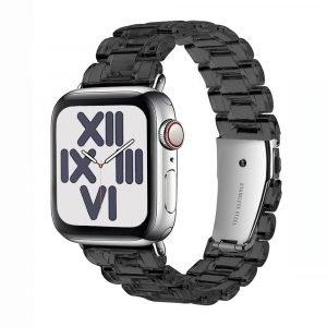 wholesale clear resin apple watch band-black- lovingcase