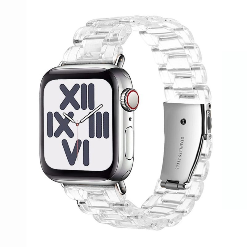wholesale clear resin apple watch band-clear - lovingcase