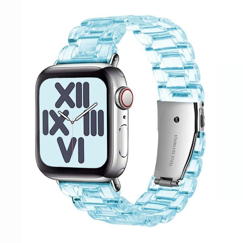 wholesale clear resin apple watch band-light blue- lovingcase