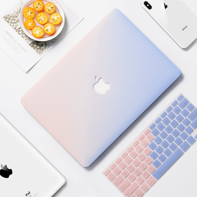 lovingcase bulk sell trendy macbook case-pink blue
