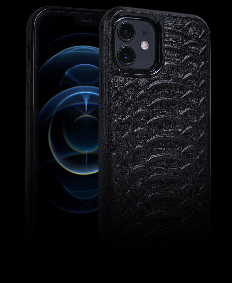 loving case wholesale custom bulk buy premium cow hide iphone case-13 - black 2