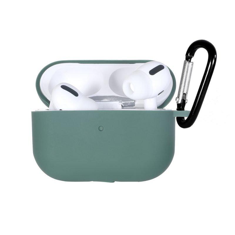 LOVINGCASE wholesale-bulk buy silicone airpods pro case- dark green 2
