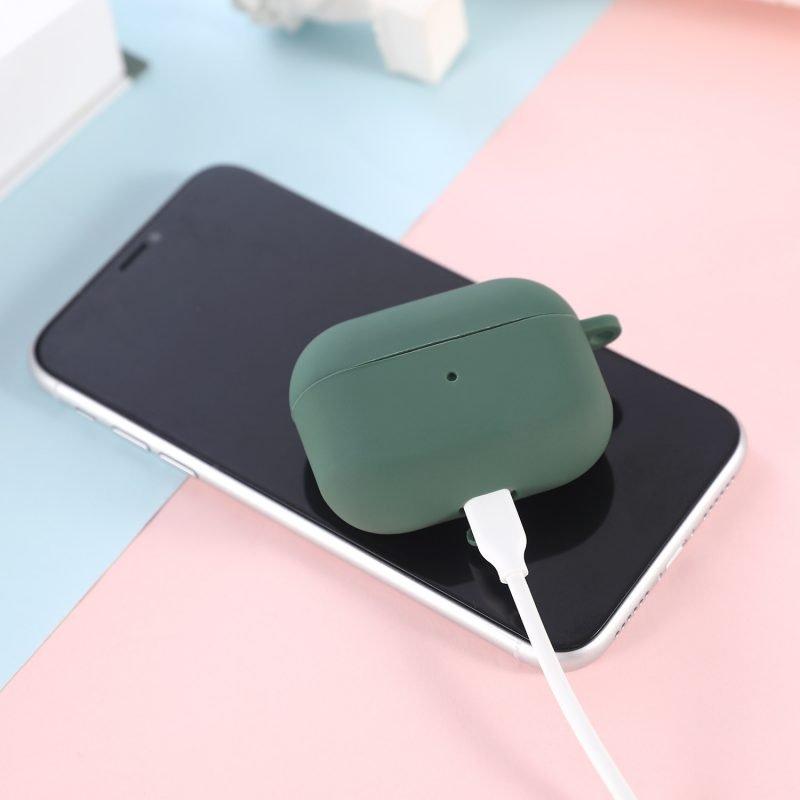 LOVINGCASE wholesale-bulk buy silicone airpods pro case- dark green 5